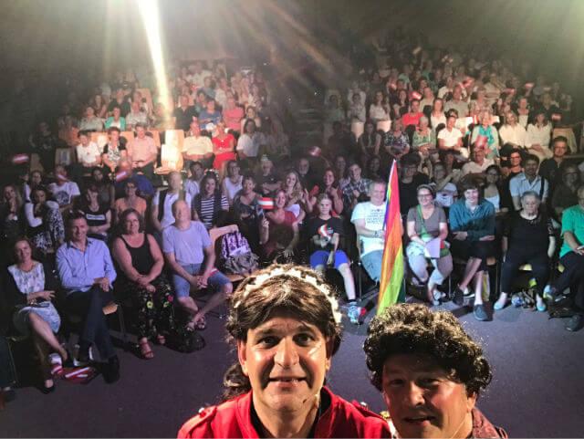 Unser Publikum mit Ludwig und Sissi am 30. Juni 2017