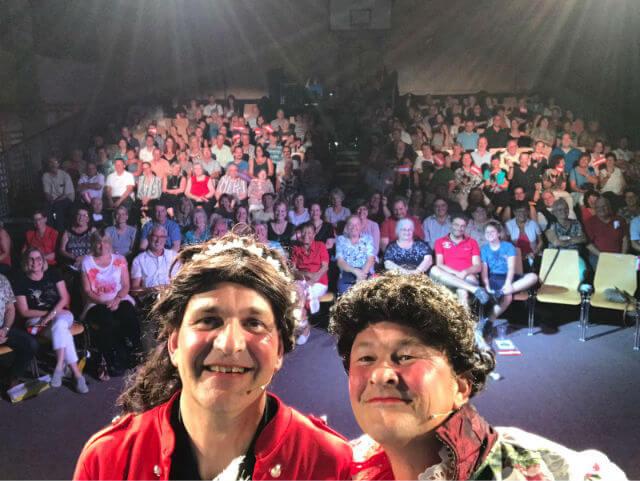 Unser Publikum mit Ludwig und Sissi am 01. Juli 2017
