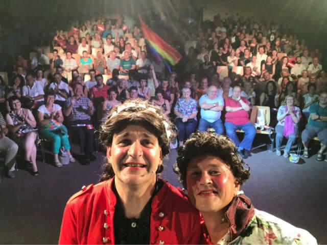 Unser Publikum mit Ludwig und Sissi am 07. Juli 2017