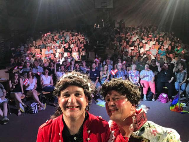 Unser Publikum mit Ludwig und Sissi am 08. Juli 2017