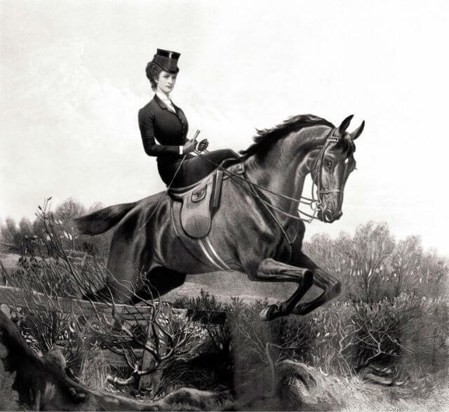 Kaiserin Elisabeth reitete sehr gerne.