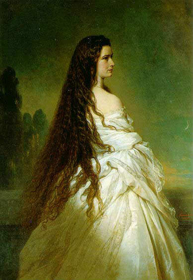 Sis hatte fast bodenlange Haare, die täglich ausgiebig gekämmt werden mussten.